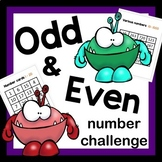 Odd and Even Math activity with monsters