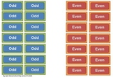 Odd and Even labels - Great Math Maths Warm Up Activity
