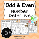 Odd and Even number worksheets (3-digit numbers)