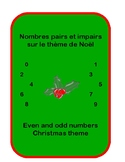 Even and odd numbers Christmas - Nombres pairs et impairs Noël