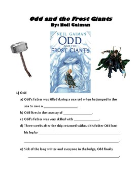 Odd and the Frost Giants reading outline