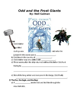 Odd and the Frost Giants reading outline (editable)