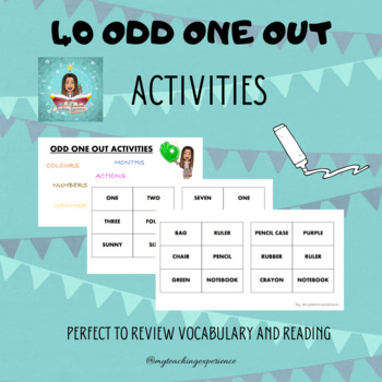 Odd one out activities