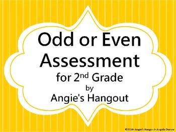 Odd or Even Assessment for 2nd Grade