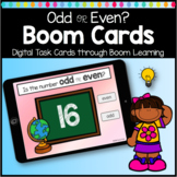 Boom Cards Odd or Even Math Digital Learning Game