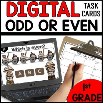 Odd or Even  DIGITAL TASK CARDS