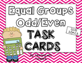 Odd and Even Equal Groups Task Cards