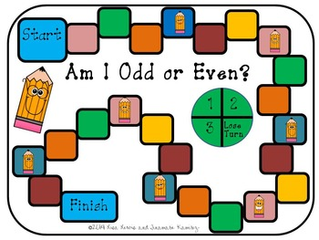 Odd or Even Math Center Game {with 3, 4,and 5 Digits}
