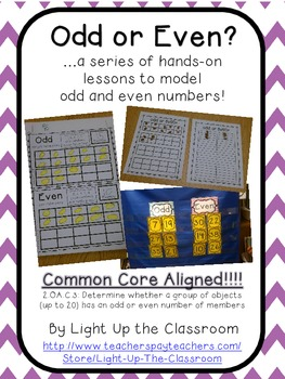 Odd or Even CCSS Aligned Hands-On Lessons