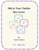 Odd or Even Math Center Puzzles