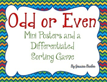 Odd or Even- Mini Posters and a Differentiated Sorting Game