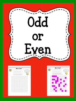 Odd or Even Multiplication Worksheet