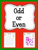 Odd or Even Multiplication Worksheet