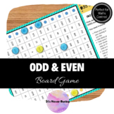 Odd or Even Numbers Board Game