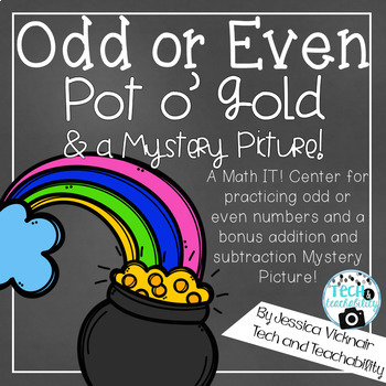 Odd or Even Pot o' Gold & Mystery Picture: March Math Centers