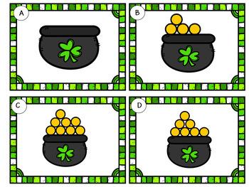 Odd or Even St Patrick's Day Leprechauns   Task Cards  Grade 2