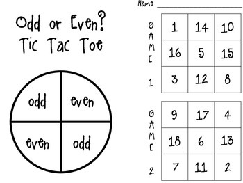 Odd or Even? Tic Tac Toe
