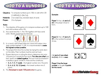 Odd to a Hundred - 1st Grade Math Game [CCSS 1.NBT.B.3] [C