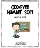 Odd/Even Number Sort - numbers up to 20
