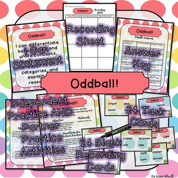 Oddball: A Comprehension Game of Categorizing