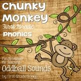 Oddball Sounds- Phonics Unit, Word Work and Literacy Cente