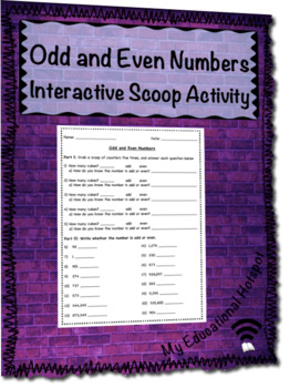 Odds and Evens Interactive Scoop Activity