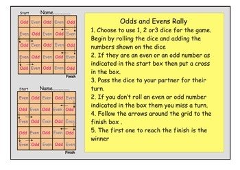 Odds and evens rally game