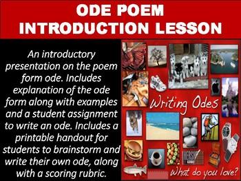 Ode Poem Introduction & Practice