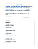 Ode Poetry Handout Example