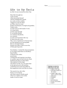 Ode - Poetry Study