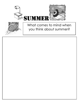Ode To Summer Writing Activity