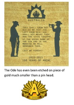 Ode of Remembrance Anzac Day Handout