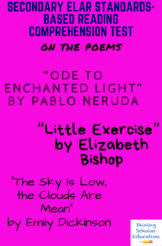 Ode to Enchanted Light, Little Exercise, The Sky Is Low... Poetry Reading Test