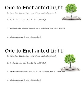 Ode to Enchanted Light Mini-Quiz