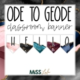 Ode to Geode Build Your Own Classroom Banner