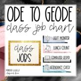 Ode to Geode Class Job Chart