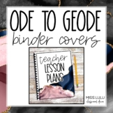 Ode to Geode Classroom Decor Binder Covers & Spines {Editable}
