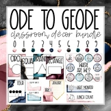 Ode to Geode Classroom Decor Bundle