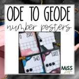 Ode to Geode Classroom Decor Number Posters