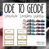 Ode to Geode Classroom Decor Teacher Toolbox Labels {Editable}