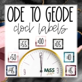 Ode to Geode Clock Labels | Clock Helpers