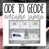 Ode to Geode Editable Classroom Labels