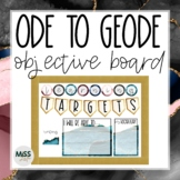 Ode to Geode Objectives & Focus Board {Editable}