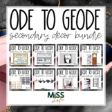 Ode to Geode Secondary Classroom Decor Bundle