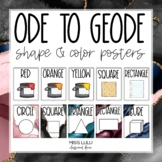 Ode to Geode Shape and Color Posters