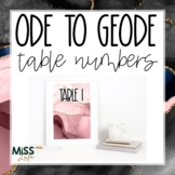 Ode to Geode Table Numbers Classroom Decor