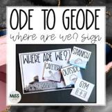 Ode to Geode Where Are We? Door Sign