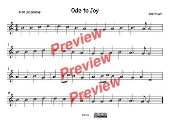 Ode to Joy. Beethoven. Score + Worksheet