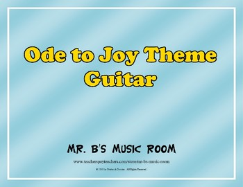 Ode to Joy - Guitar Music with Audio