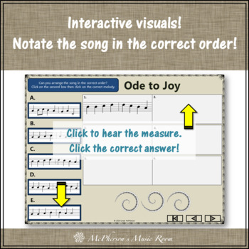 Ode to Joy - Recorder PowerPoint Visuals (Notes DGABCD)